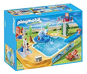 Playmobil 5433 summer fun piscine avec tobogan et for Piscine playmobil jouet club