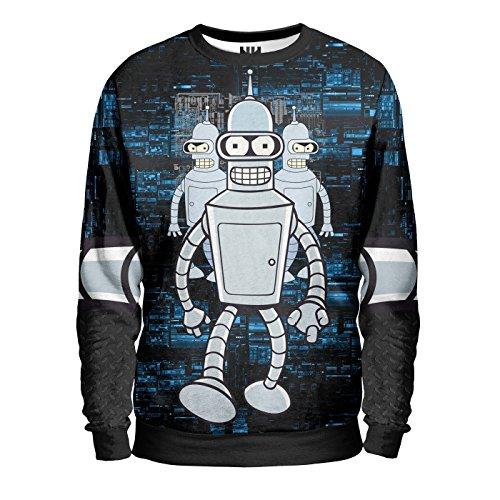 FUTURE BENDER - Sweatshirt Man - Felpa Uomo - Futurama Fry Leela T-Shirt Cartoon Simpson Animazione Cartone