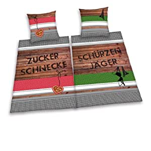 herding 445984239 partner bettw sche sch rzenj ger und zuckerschnecke doppelpack 1 x. Black Bedroom Furniture Sets. Home Design Ideas