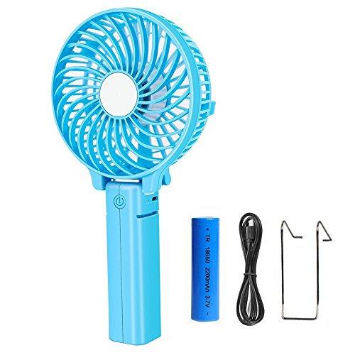 COOLEAD Plegable Mini Ventilador USB Silencioso Portátil Ventilador de Mano Pequeño Personal...