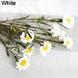 Amesii finta seta artificiale margherita bouquet casa decorazione di nozze 8teste White