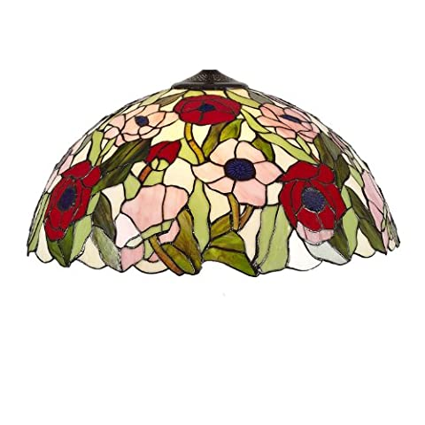CR50-16S - 40cm Poppy Tiffany Stained Glass Ceiling