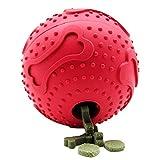 ubest Hundespielzeug für Hunde Snackball aus Naturkautschuk Robust Hundespielball Hundeball, Rot, Durchmesser 7.6cm