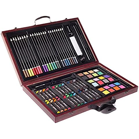 ZagGit 83 Piece Deluxe Art Creativity Set in Wooden Case by ZagGit