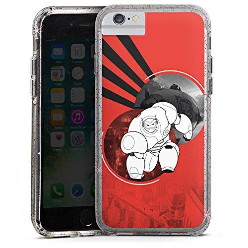 Apple iPhone 8 Bumper Hülle Bumper Case Glitzer Hülle Disney Baymax Merchandise Bumper Case Glitzer rose gold