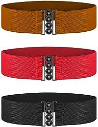 Chuangdi Cinghie Larghe Gancio Plus Cintura Elastica in Vita Corsetto a Cintura  Cinture Elastiche 5e906c05cef