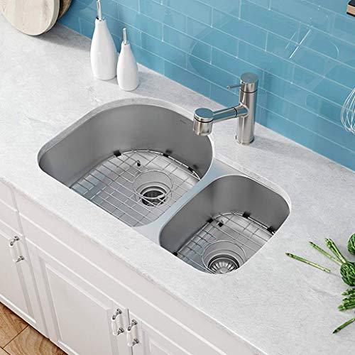 304 Edelstahl-Spülbecken-Paar-Schlitz-Multifunktionsspülbecken-Becken-doppelte Schüssel Küchenspülen 0625