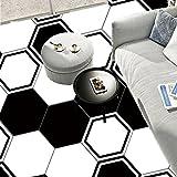 JY ART Y Wand-Aufkleber Küche Deko Badezimmer-Gestaltung - Küchen-Fliesen überkleben - Dekorative Bad-Gestaltung - Fliesen-Aufkleber - DIY Schwarz und Weiß- LB002, Sets of 10 Pieces