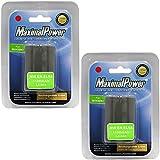 MaximalPower Batterie de remplacement pour Nikon EN-EL9 et Nikon D3 x, D40, D60, D3000, D5000 appareil photo (Lot de 2)