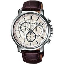 Casio Collection – Reloj Hombre Analógico con Correa de Cuero Auténtico – BEM-506L-7AVEF