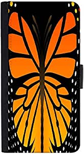 Snoogg Abstract Orange Butterfly Designer Protective Phone Flip Back Case Cover For Lenovo Vibe K4 Note