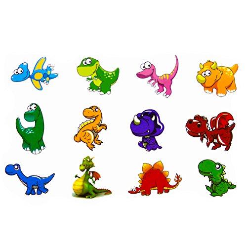 Oblique Unique® Dino Kinder Tattoo Set 24 Stück Kindertattoos Tattoo Verschiedene Motive Kinder Spielen