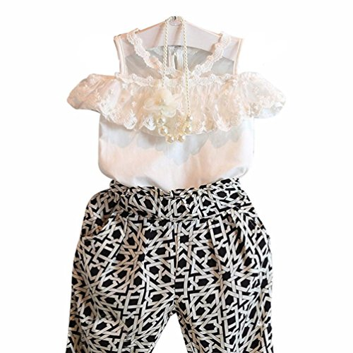 internet-kids-girls-plaid-strapless-sling-lace-shirt-pant-set-clothing-2-7-y-100-3-4y-white