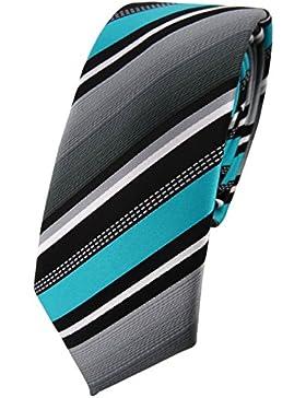 schmale TigerTie Designer Krawatte gestreift - Tie Krawatte in verschiedenen Farben - 6 cm Breite