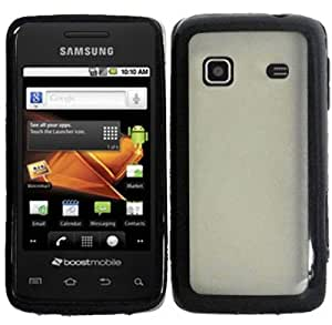 HR Wireless PC Plus TPU Cover Case for Samsung M820 - Retail Packaging - Clear/Black