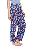 CAMEY Women's Cotton Printed Pajama (Blue, Free Size)