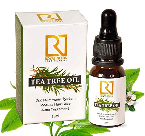ROYAL NEEDS Tea tree essential oil for skin,hair and acne care(15ml) undiluted therapeutic grade tea tree oil