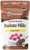 Naduria Bio Kakao Nibs in Premium Qualität |600g(3x200g) | Ungeröstet & ungesüßt | Laktosefrei | Reich an Ballaststoffen | Quelle von Proteinen| Fein-herber Geschmack | Für Desserts, Smoothies, Shakes
