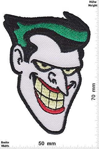 Patches - Joker - Batman - Movie Game Patch - Cartoon - Comic - Vest - Iron on Patch - Applique embroidery Écusson brodé Costume Cadeau- Give