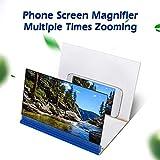 """Eboxer 8"""" Amplificador de Pantalla de Video Portátil de Alta Definición de Teléfono, Multifuncional Soporte de Lupa de Pantalla para Teléfono Móvil (Verde Oscuro)"""