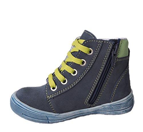 ennellemoo®  Made in EU , Chaussures bateau pour garçon Blau/Grün/Rot