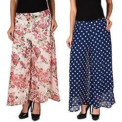 2Day Womens Georgette Palazzo (2De Pck2 Gp 13.2-$P _Multi-Coloured _32)
