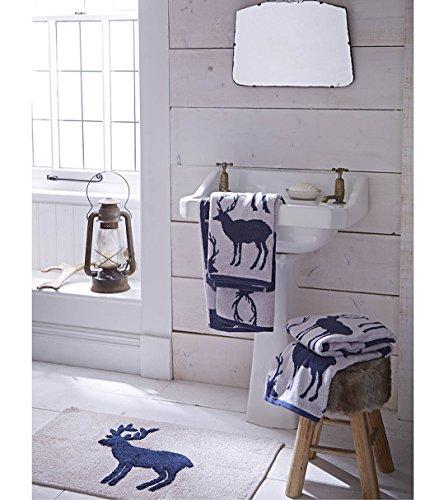 catherine-lansfield-asciugamano-in-cotone-jacquard-50-x-85-cm-motivo-cervo-colore-blu-navy