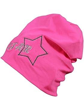 TupTam Mädchen Beanie-Mütze mit Blume Baumwolle Topfmütze