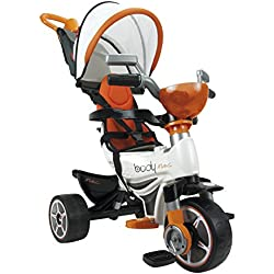 INJUSA- Triciclo Body MAX Naranja para Bebés a Partir de 10 Meses con Control Parental de Dirección, Color (3254)