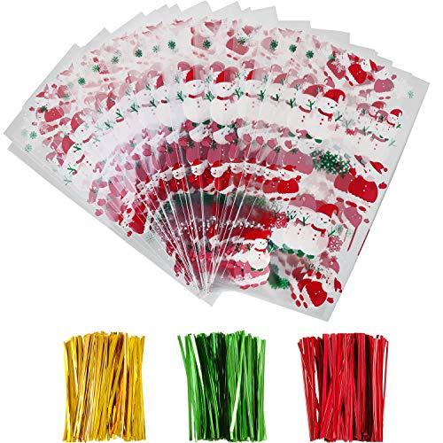100 Pezzi Borse per Cellophane di Pasqua Trasparente Sacchetto di Pasqua con 150 Pezzi Cravatte a Torsione per Forniture per Feste Pasquali (Stile 2)