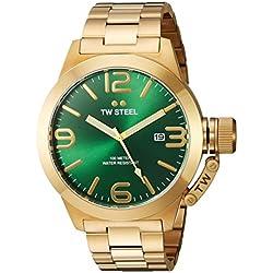 Tw Steel CB222 - Reloj de pulsera para hombre, verde/oro