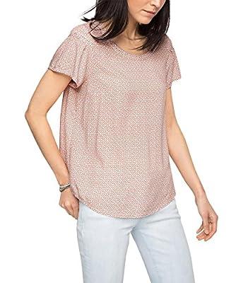 edc by Esprit Women's Printed Short Sleeve Blouse