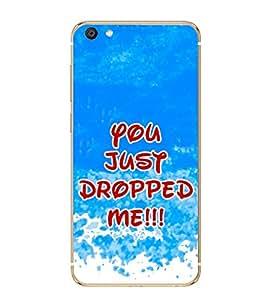 PrintVisa Flirty Quotation High Gloss Designer Back Case Cover for vivo X7 Plus