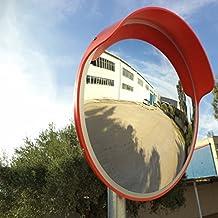 JCM-45o miroir convexe de la circulation, incassable, diamètre 45 cm, pour la sécurité routière et de la sécurité du magasin, avec support de fixation réglable pour la pole 48 mm.