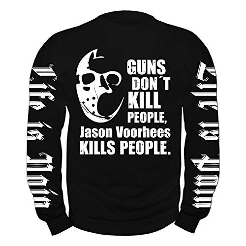 ullover Jason kills people (Jason Vorhees-masken)