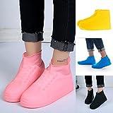 Couvre-chaussures Quanjucheer en latex - Imperméable - Résistant à la poussière - Protection des chaussures ou bottes sous la pluie ou la neige , Noir , Taille M