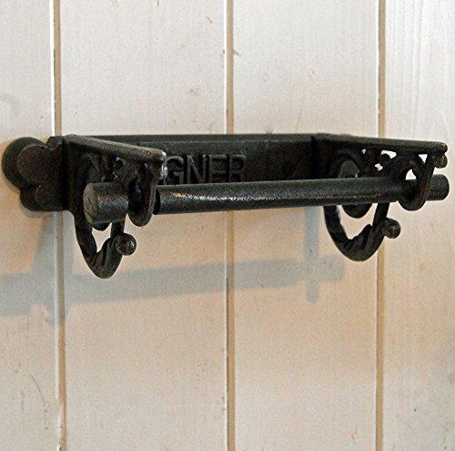 Vintage GNER Ferrocarriles Victoriano metal fundido montado en la pared WC baño portarrollos