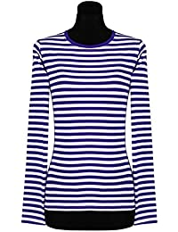 Ringelshirt für Damen Langarm gestreift eng geschnitten tailliert in verschiedenen Farben & Größen