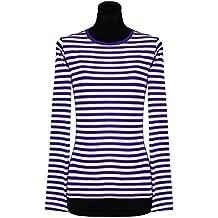 9748115719b5f8 Ringelshirt für Damen Langarm gestreift eng geschnitten tailliert in  verschiedenen Farben   Größen