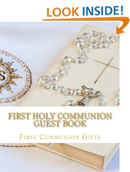 First easter gifts amazon first holy communion guest book negle Gallery