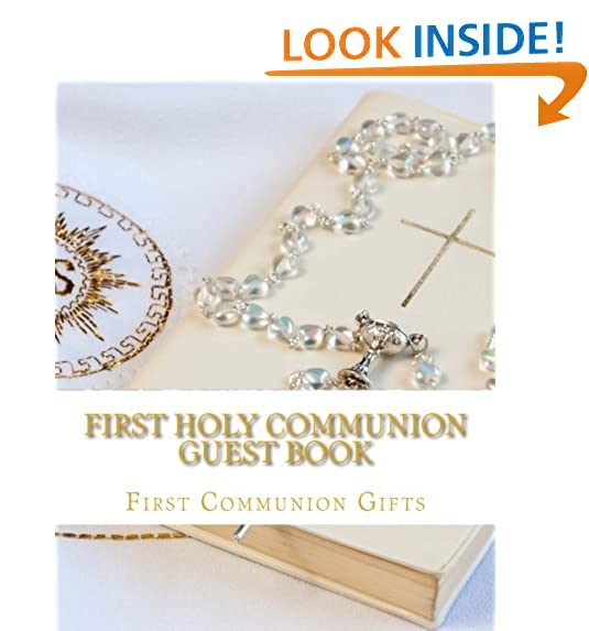 First easter gifts amazon first holy communion guest book negle Choice Image