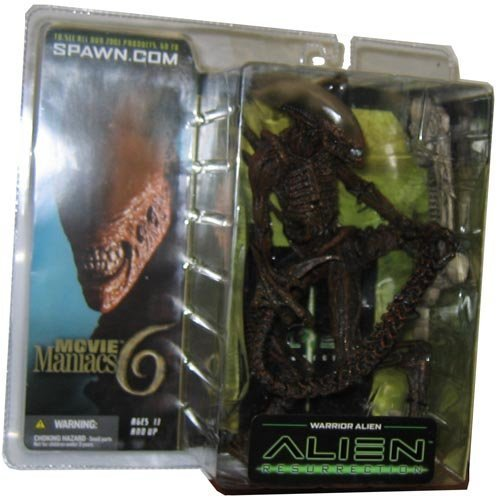 McFarlane Toys Movie Maniacs (Schweizerische Band) Series 6 Alien and Predator Aktion steht Warrior Alien by Spawn
