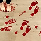 Halloween Deko, Wanddekoration Scary Blutige Fußabdrücke Boden Aufkleber