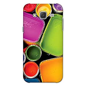 CrazyInk Premium 3D Back Cover for Samsung J5 2015 - WATERCOLOR CONTAINER