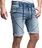 Sublevel Herren Jeans Shorts Joggshorts 61584 Mittelblau Gr. 33