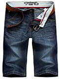 Valuker N6061 Herren Jeans Shorts Sommer Kurze Hose Dunkelblau-33