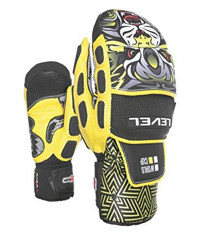 Level Herren Worldcup CF Mitt Handschuhe, Yellow, 8,5 - Level-herren Race-handschuh