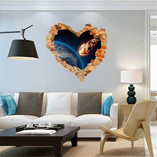 ntine Entfernbare Wandtattoo Familie Home Aufkleber Wandbild Kunst Wohnkultur, 3D-Effekt (A) ()
