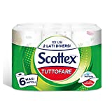 Scottex Tuttofare Due Lati Diversi, 6 Maxi Rotoli