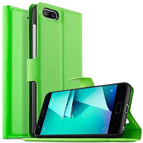 KuGi DOOGEE X20L Hülle Case, DOOGEE X20L Wallet Case, Brieftasche Case Hülle PU Kunstleder Flip Case mit Standfunktion Kartenfächer und Bargeld für DOOGEE X20L Smartphone.Grün